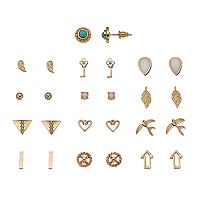 Feather, Wings & Bird Stud Earring Set