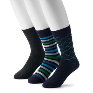 Men's Hanes 3-pack Ultimate Fresh IQ Crew Socks