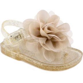 Baby Girl Wee Kids Flower Jelly Crib Sandals