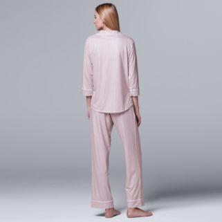 Women's Simply Vera Vera Wang Pajamas: Flirting With Autumn Top & Pant PJ Set