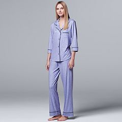 Women's Simply Vera Vera Wang Pajamas: Flirting With Autumn Top & Pant PJ Set