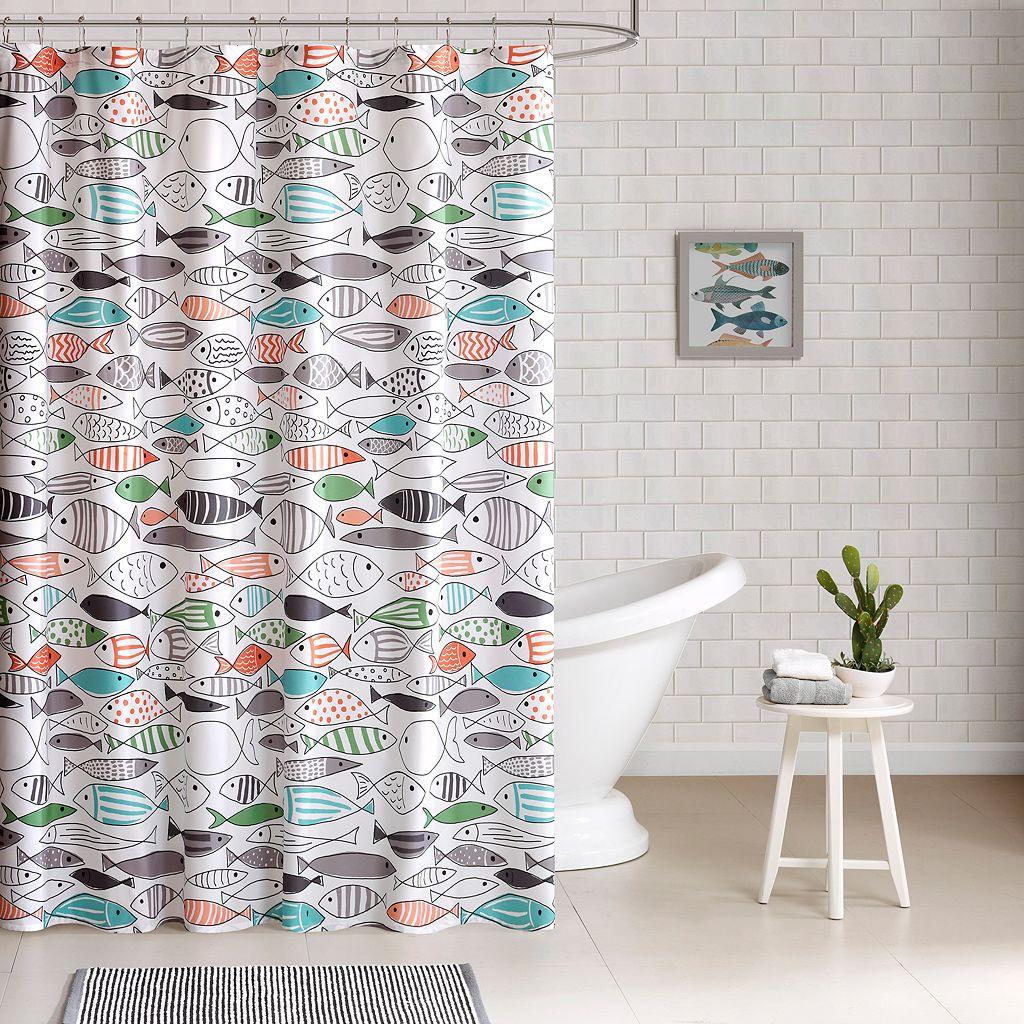HipStyle Madfish Shower Curtain