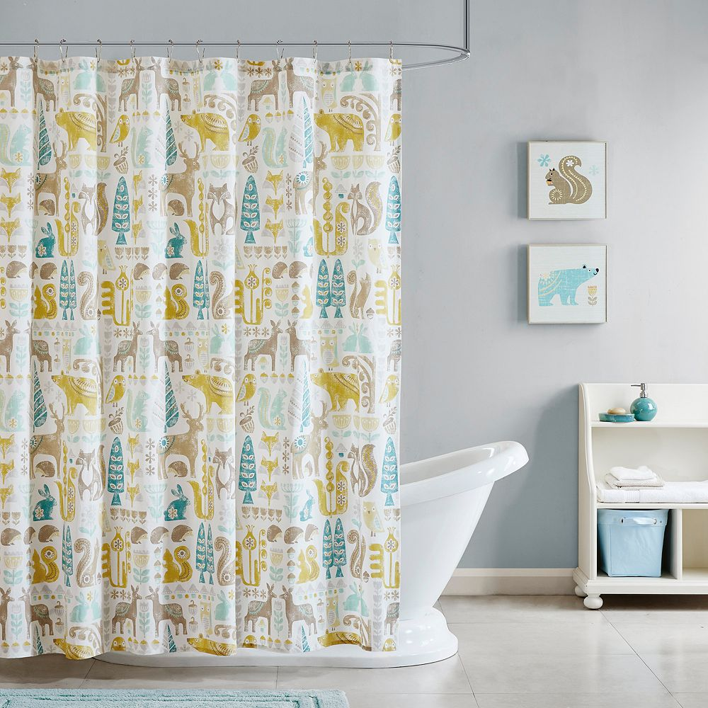 Kids INK IVY Woodland Shower Curtain
