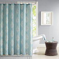 Madison Park Kensington Texture Print Shower Curtain