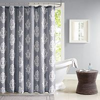 Madison Park Kensington Texture Print Shower Curtain