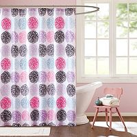 Mi Zone Audrina Microfiber Shower Curtain