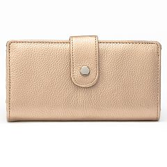 Apt. 9® Soho Leather RFID-Blocking Tab Clutch