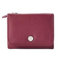 Apt. 9® Anna Soho Leather RFID-Blocking Indexer Mini Wallet