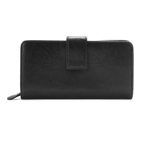Apt. 9® Sandalwood Leather RFID-Blocking Tab Clutch Wallet
