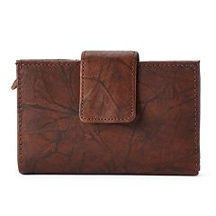 Apt. 9® Sandalwood Leather RFID-Blocking Tab Indexer Wallet