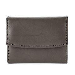 Apt. 9® Sandalwood Leather RFID-Blocking  Mini Trifold Wallet
