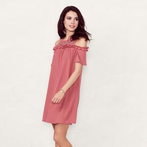 Women's LC Lauren Conrad Cold-Shoulder Shift Dress
