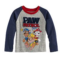 Toddler Boy Paw Patrol Applique Marshall, Rubble & Chase Raglan Tee