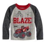 Toddler Boy Blaze & The Monster Machines Applique Raglan Tee