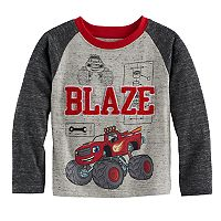 Toddler Boy Blaze & The Monster Machines Applique Raglan Tee