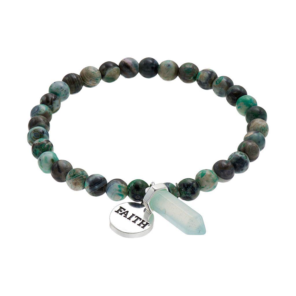 Healing Stone Blue Agate Bead &