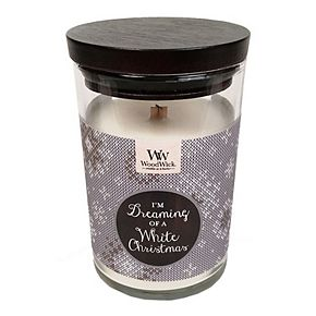 WoodWick ''I'm Dreaming of a White Christmas'' Vanilla Gourmand 9.5-oz. Candle Jar