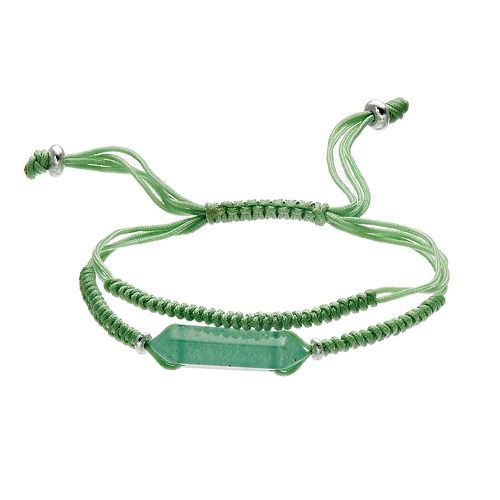 Healing Stone Aventurine Crystal Adjustable Cord Bracelet
