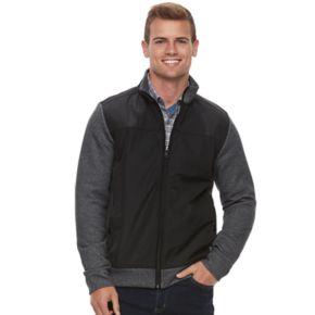 Men's Apt. 9® Mixed Media Mockneck Jacket