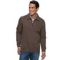 Big & Tall Croft & Barrow® Classic-Fit Easy-Care Fleece Quarter-Zip Pullover