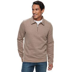 Big & Tall Croft & Barrow® Classic-Fit Easy-Care Fleece Quarter-Zip Pullover