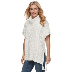 Women's SONOMA Goods for Life™ Cable Knit Poncho Sweater