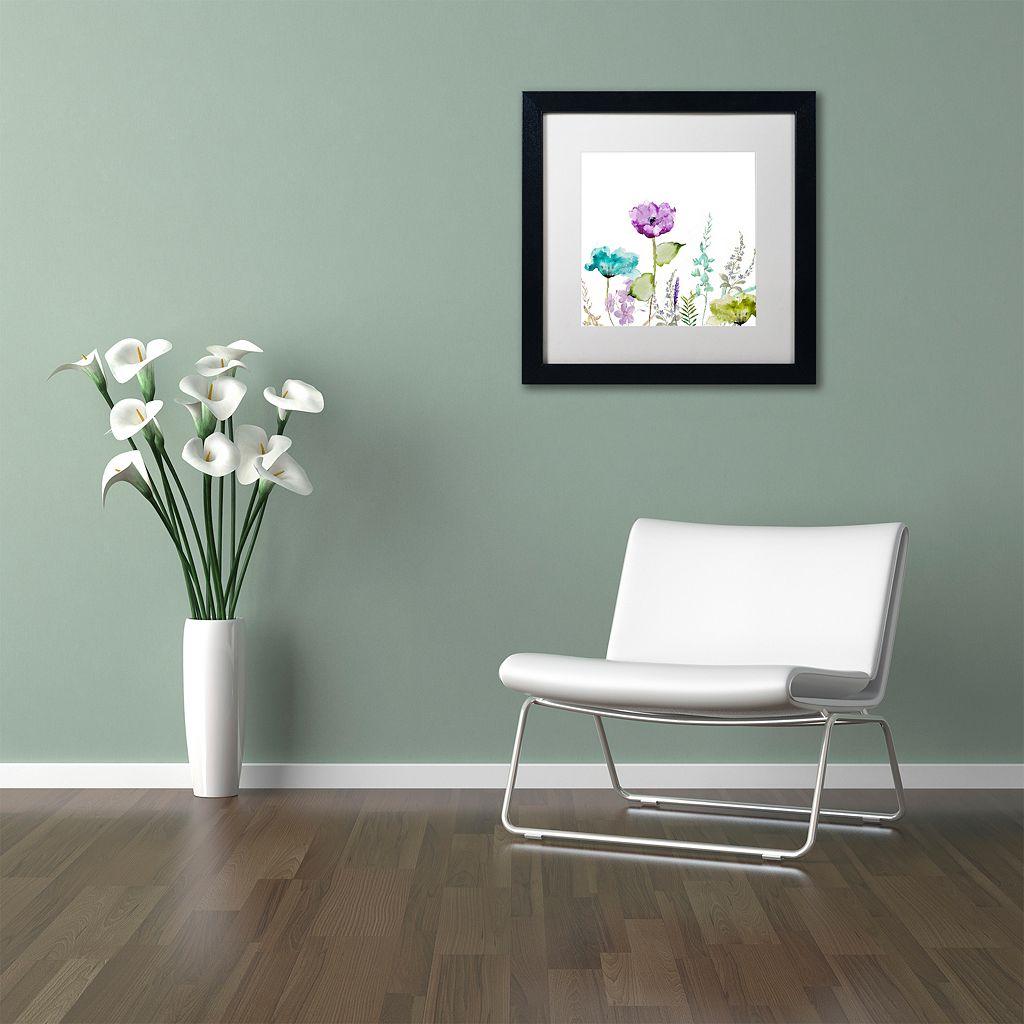 Trademark Fine Art Avril I Black Framed Wall Art