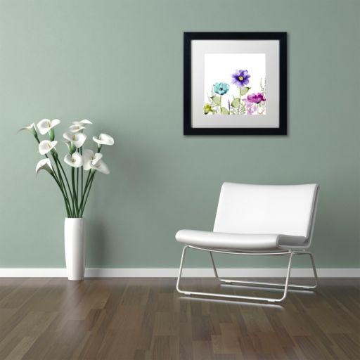 Trademark Fine Art Avril II Black Framed Wall Art