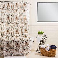 Splash Home Woodland Creatures Shower Curtain