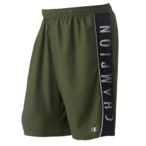 Big & Tall Champion Microfiber Logo Swim Trunks