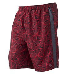 Big & Tall Champion Geometric Microfiber Swim Trunks
