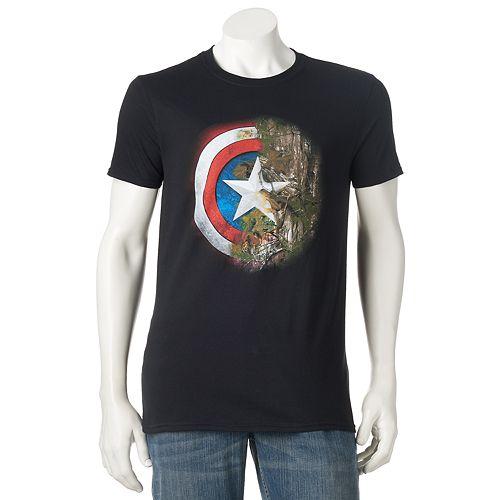 Men's Marvel Captain America Realtree Camo Shield Tee