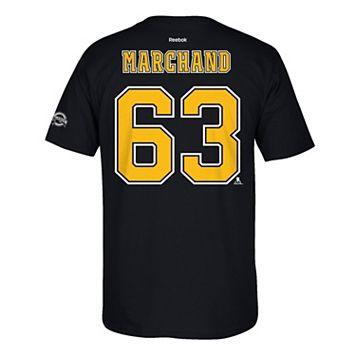 Men's Reebok Boston Bruins Brad Marchand 2017 Stanley Cup Playoffs Player Tee