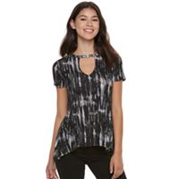 Juniors' Mudd® Choker Neck Tee