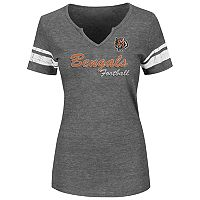 Plus Size Majestic Cincinnati Bengals Heathered Tee