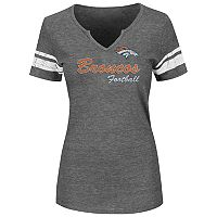 Plus Size Majestic Denver Broncos Heathered Tee
