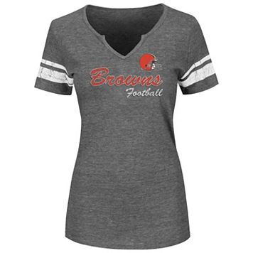 Plus Size Majestic Cleveland Browns Heathered Tee