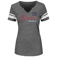 Plus Size Majestic New York Giants Heathered Tee