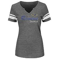 Plus Size Majestic Baltimore Ravens Heathered Tee