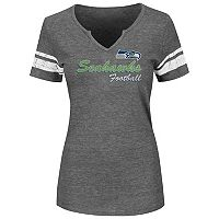 Plus Size Majestic Seattle Seahawks Heathered Tee