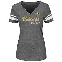 Plus Size Majestic Minnesota Vikings Heathered Tee