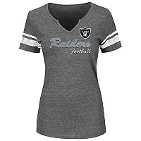 Plus Size Majestic Oakland Raiders Heathered Tee