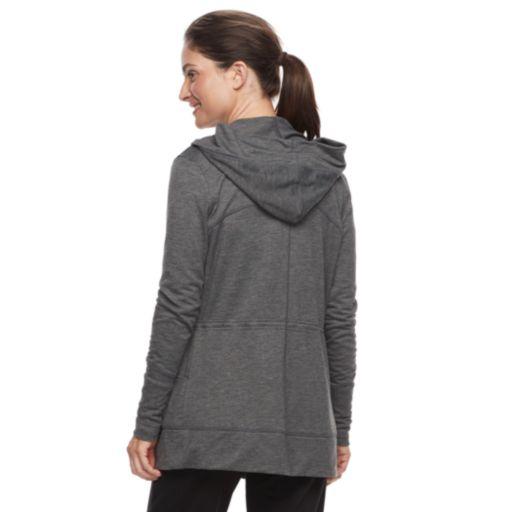 Tek Gear® Cinched-Waist Hooded Wrap Top