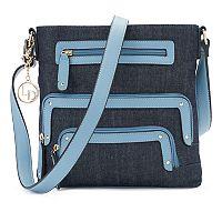 La Diva Cassandra Triple-Entry Denim Crossbody Bag