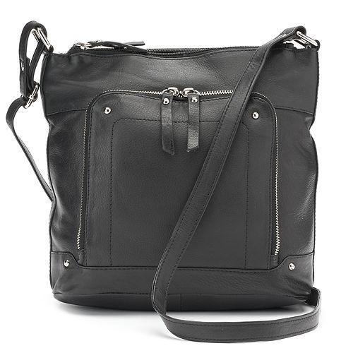 722a0d229af9 La Diva Violet Triple-Entry Leather Crossbody Bag