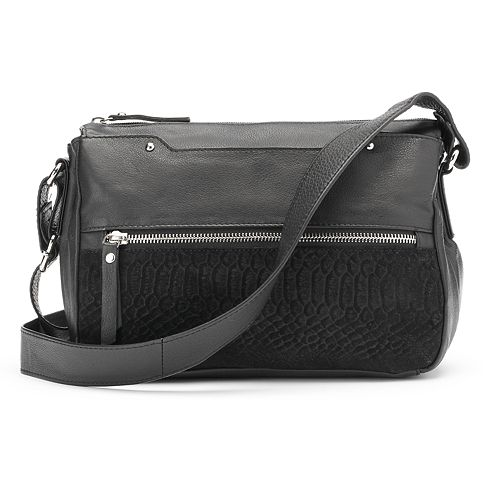 fc01e8780c13 La Diva Jane Triple-Entry Leather Crossbody Bag
