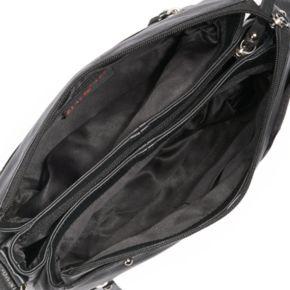 La Diva Jane Triple-Entry Leather Crossbody Bag