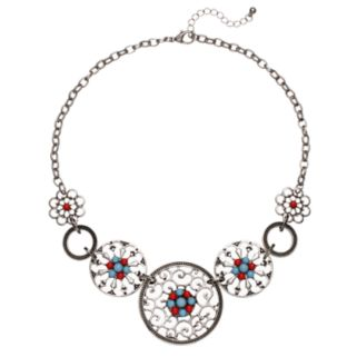 Filigree Medallion Statement Necklace