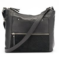 La Diva Jane Dual-Entry Leather Shoulder Bag