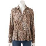 Women's Dana Buchman Release-Pleat Shirt